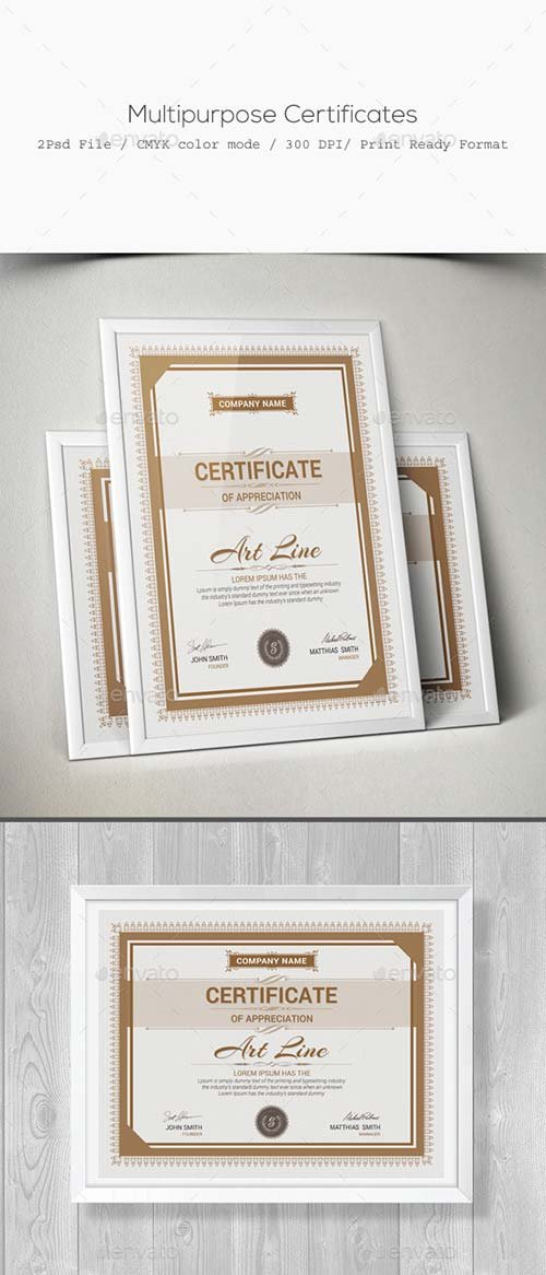 GraphicRiver Multipurpose Certificates