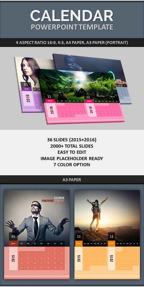 GraphicRiver PowerPoint Calendar Template 2015-2016