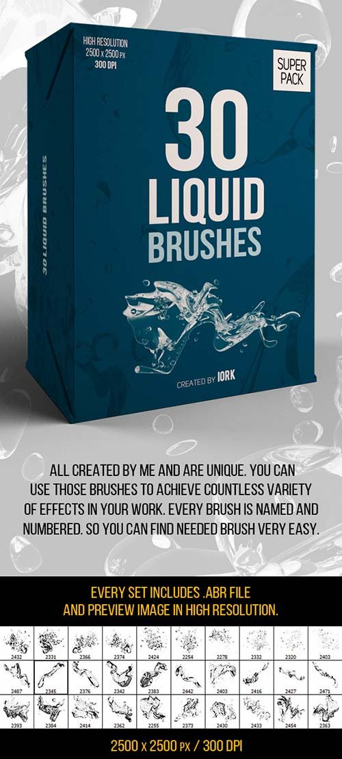 GraphicRiver 30 Liquid Brushes