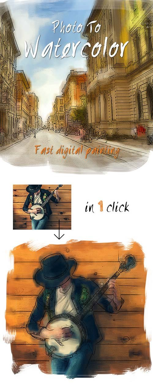 GraphicRiver Photo To Watercolor Painting