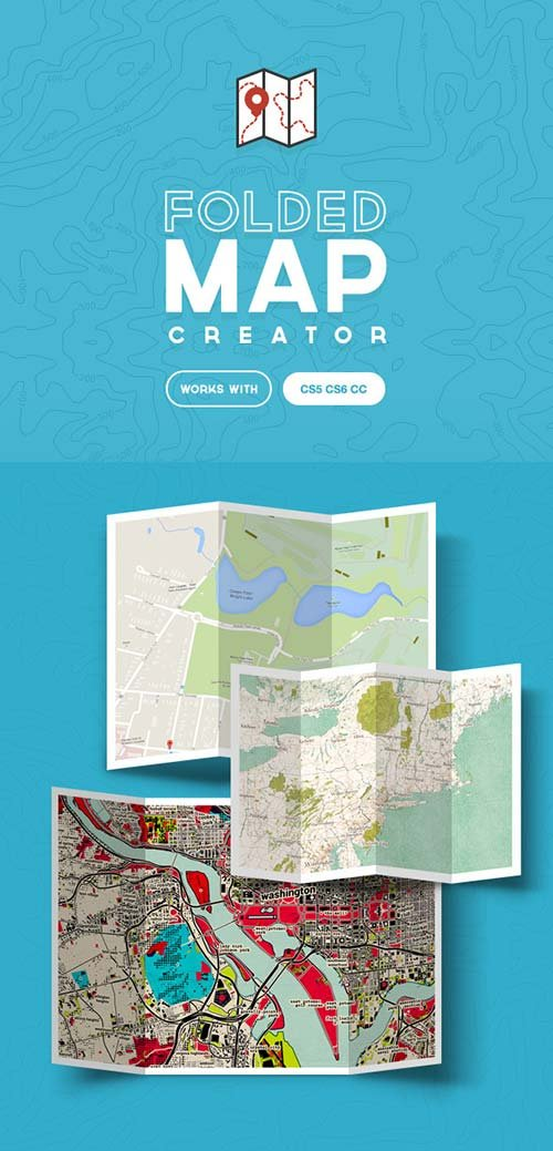 GraphicRiver Folded Map Creator