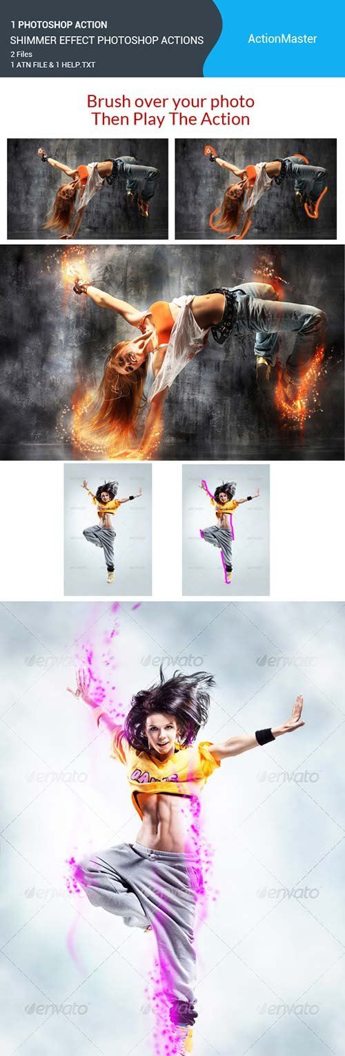 GraphicRiver Shimmer Effect Photoshop Actions