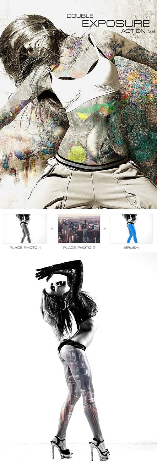 GraphicRiver Double Exposure Action v.2