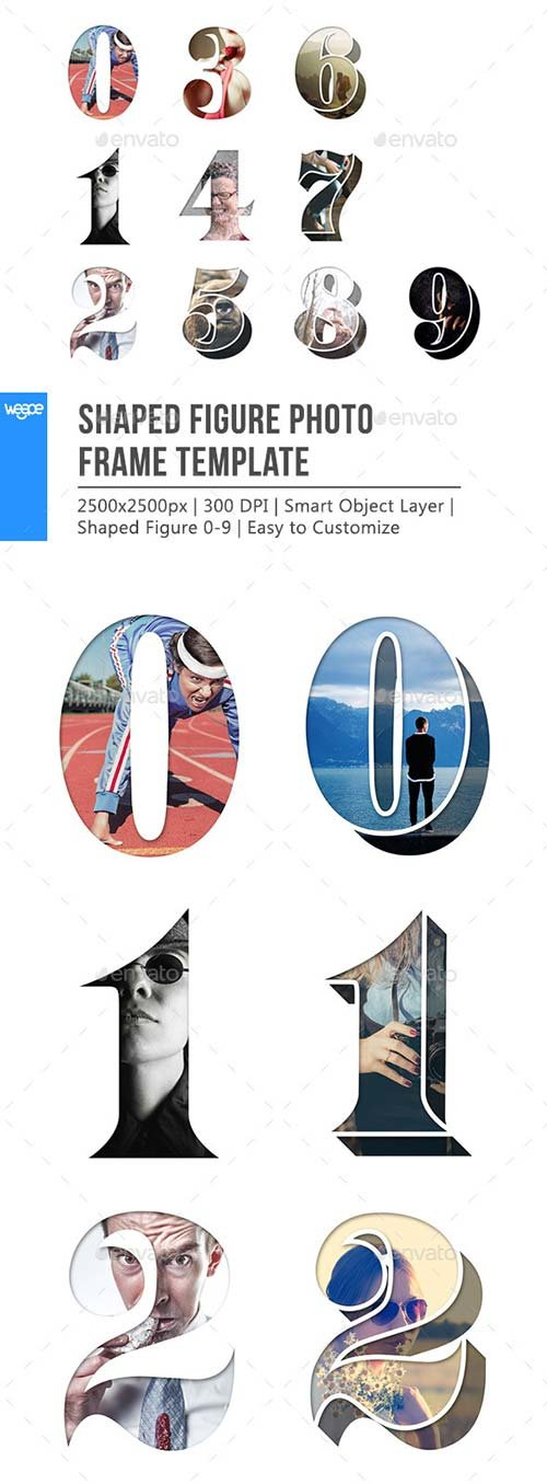 GraphicRiver Shaped Figure Photo Frame Template