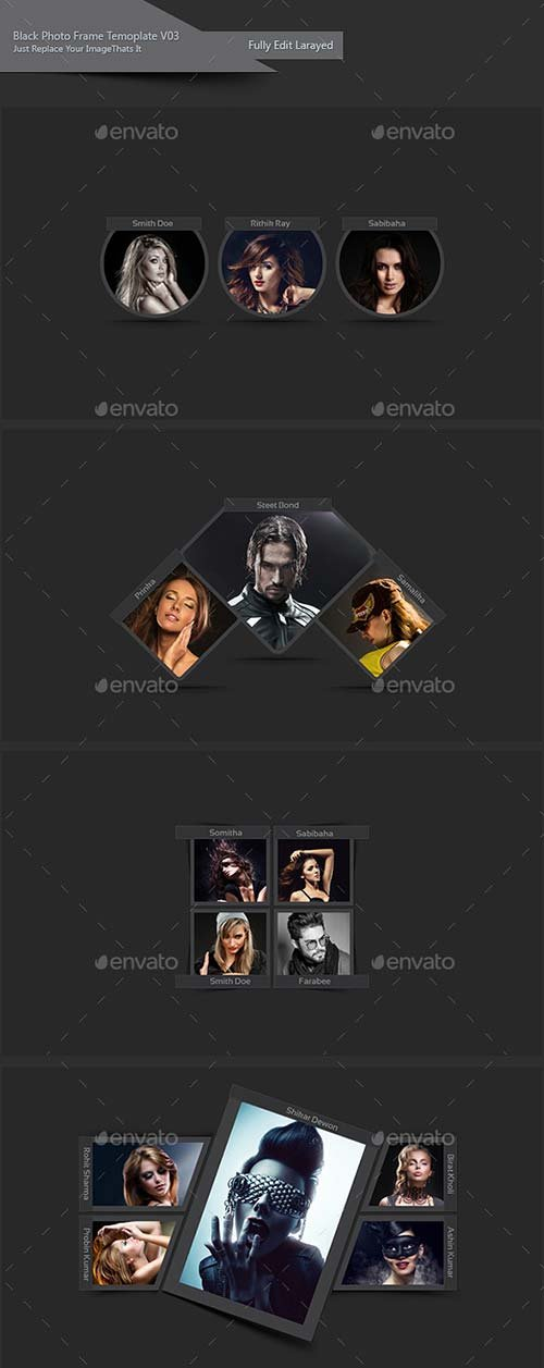 GraphicRiver Black Photo Frame Template V03