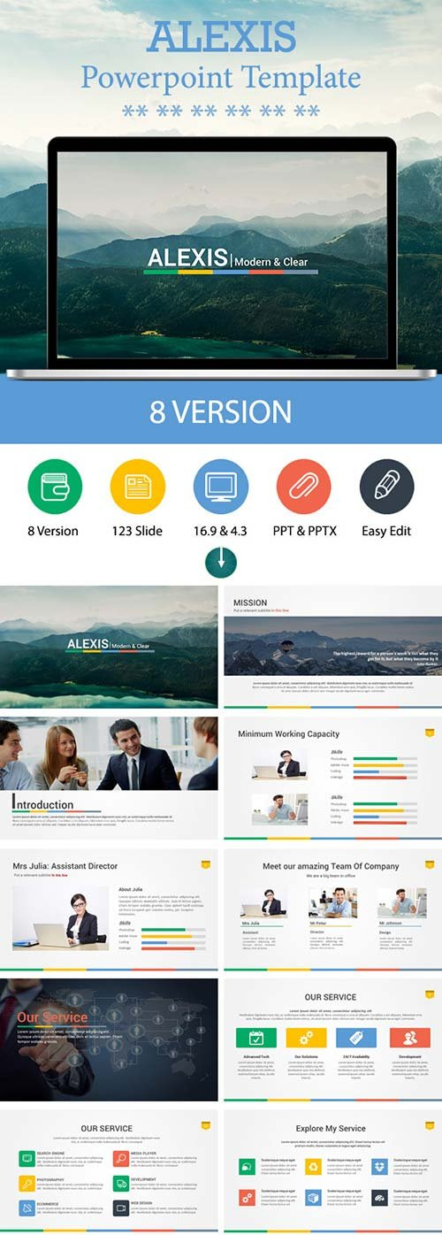 GraphicRiver Alexis Powerpoint Template