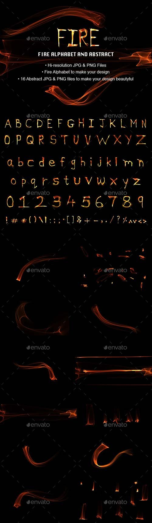 GraphicRiver Fire Alphabets and Abstracts