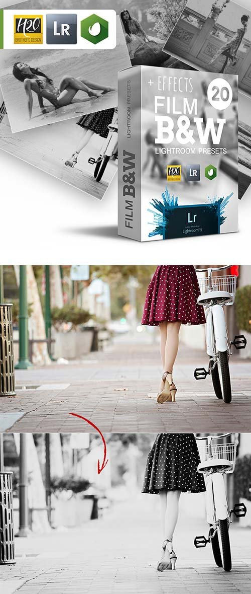 GraphicRiver Film B&W Lightroom Presets