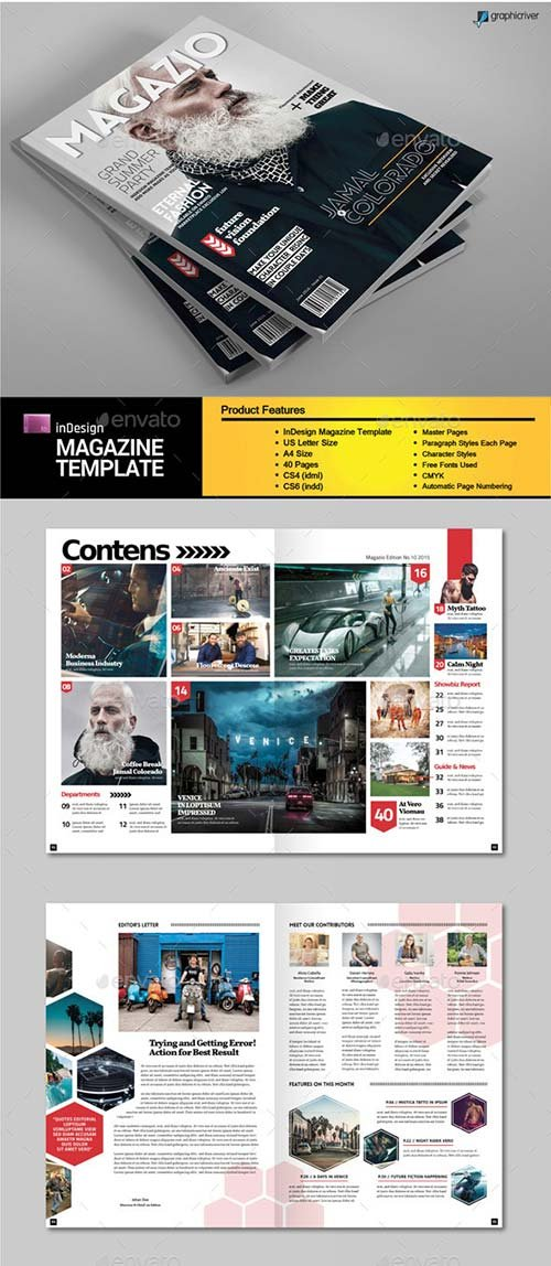 GraphicRiver A4 Letter Magazine Template