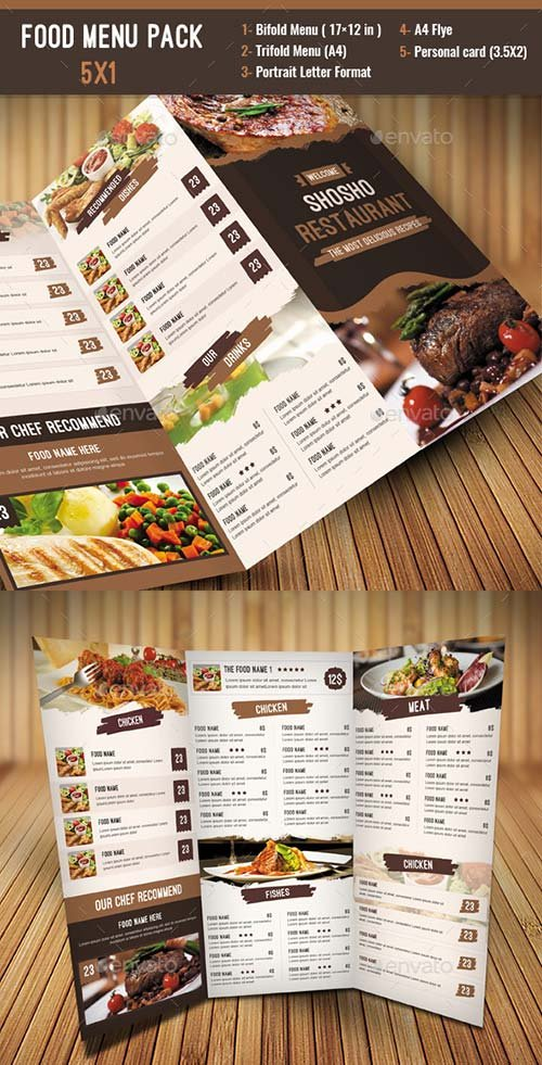 GraphicRiver Food Menu Pack