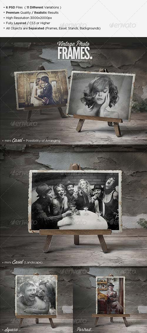 GraphicRiver Premium Vintage Photo Frames