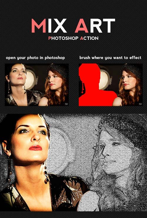 GraphicRiver Mix Art Photoshop Action