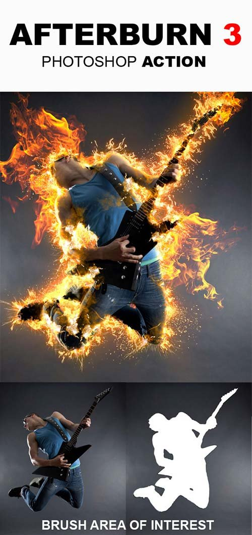 GraphicRiver AfterBurn 3 Photoshop Action