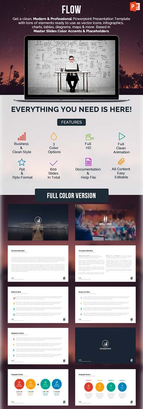 GraphicRiver Flow Powerpoint Presentation