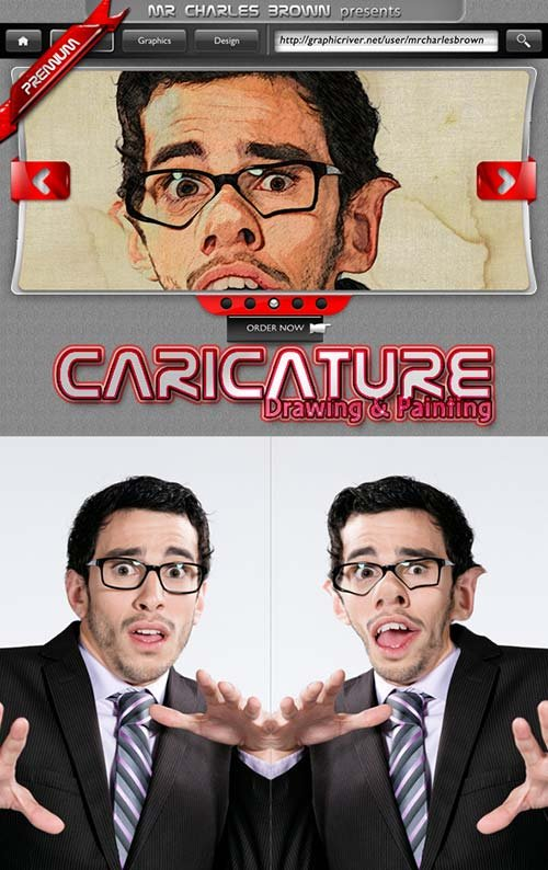 GraphicRiver Caricature Drawing and Painting Image Action