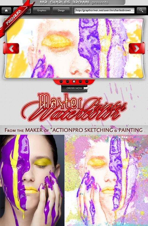 GraphicRiver Watercolor Master Painter Action