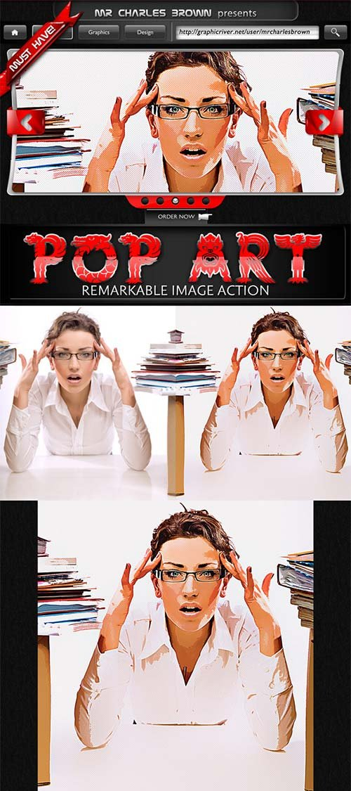GraphicRiver Remarkable Pop Art Image Action