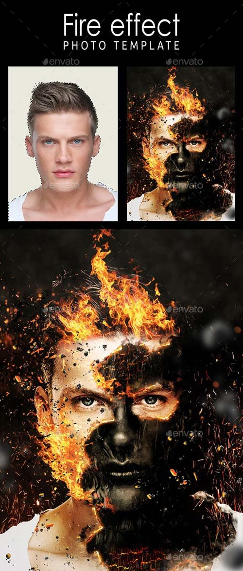 GraphicRiver Fire Effect Photo Template