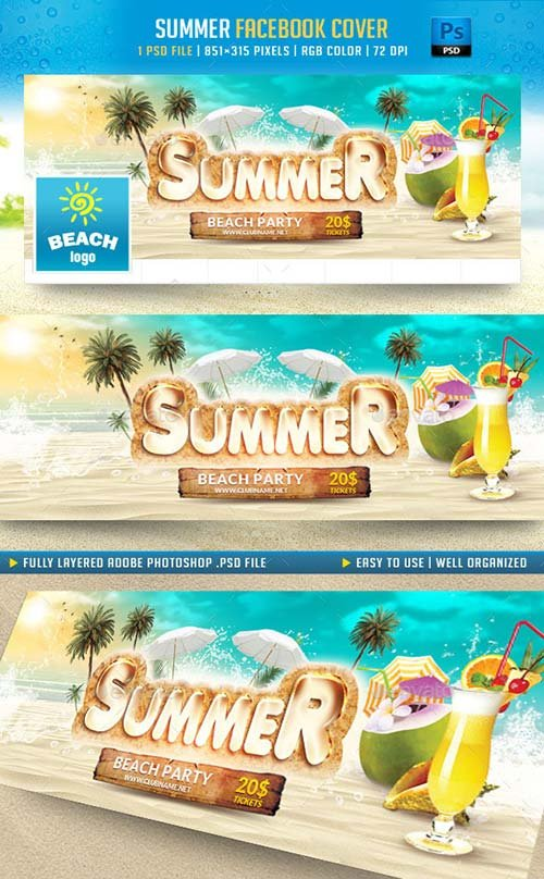 GraphicRiver Summer Facebook Cover