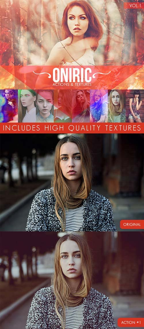 GraphicRiver Oniric Actions and Textures Vol.1