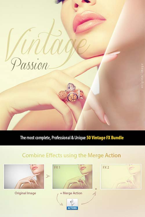 GraphicRiver 50 Vintage Passion Bundle | Pro Effects