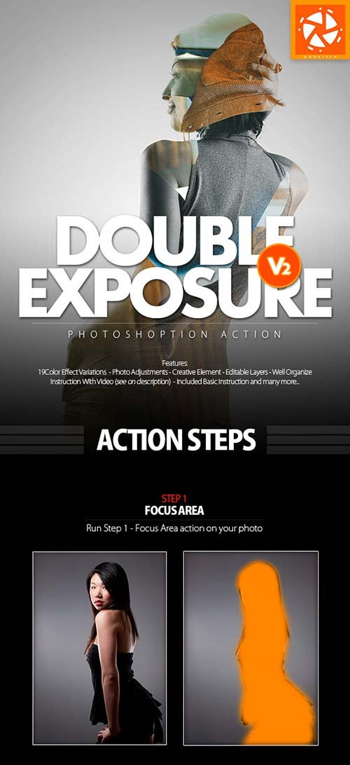 GraphicRiver Double Exposure 2 Action