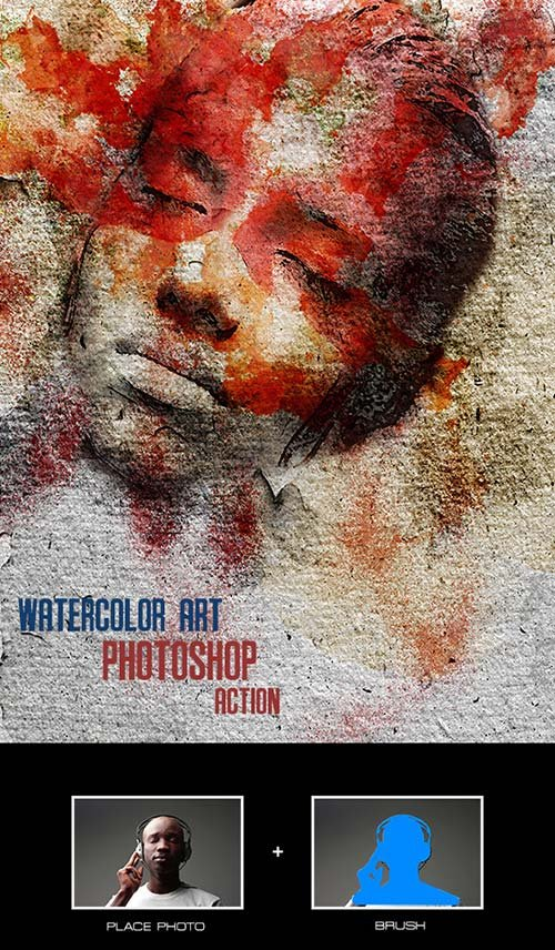 GraphicRiver Watercolor Art - Photoshop Action