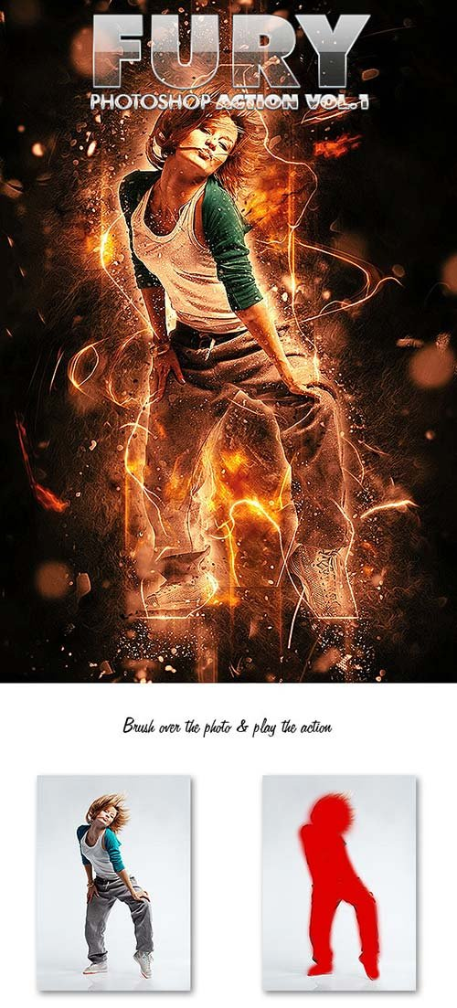GraphicRiver Fury Photoshop Action Vol.1