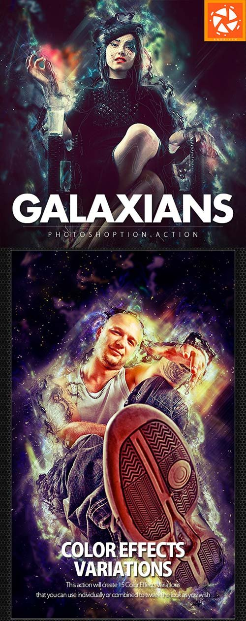 GraphicRiver Galaxians Photoshop Action
