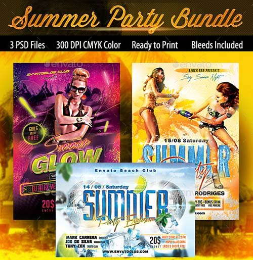 GraphicRiver Summer Flyers Bundle