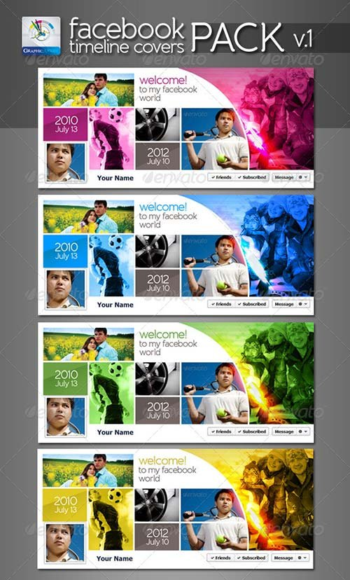 GraphicRiver Modern Facebook Timeline Cover Pack v.1