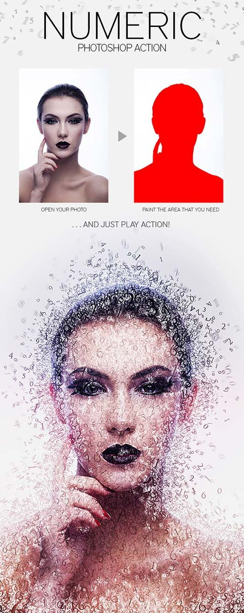 GraphicRiver Numeric Photoshop Action