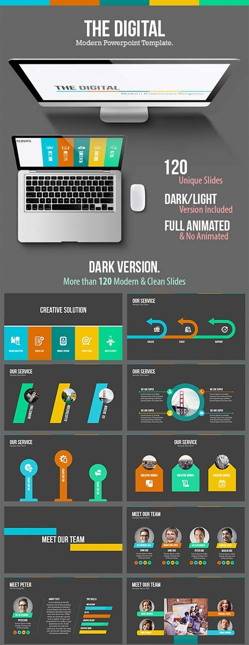 GraphicRiver The Digital - Modern Powerpoint Template