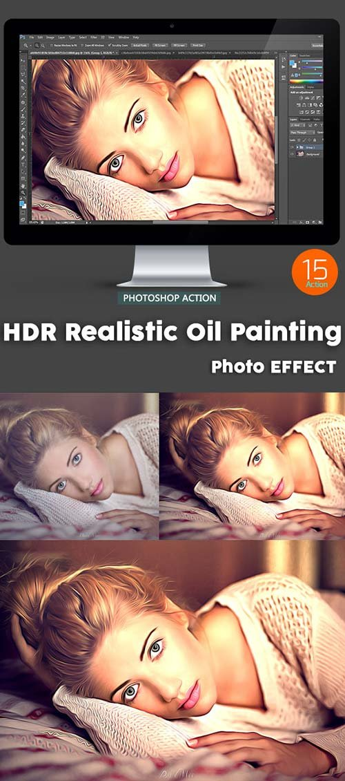 GraphicRiver 15 HDR Realistic Oil Painting - Photo Effect