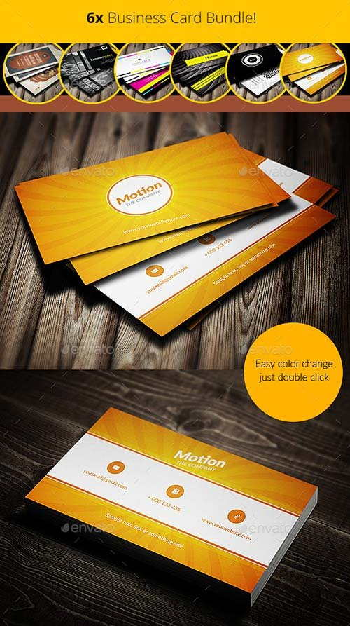 GraphicRiver 6x Business Card Bundle!