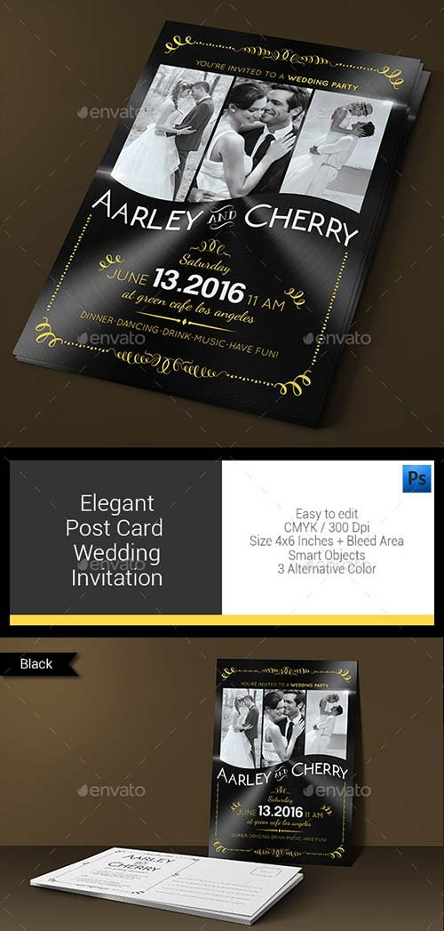 GraphicRiver Elegant Post Card Wedding Invitation