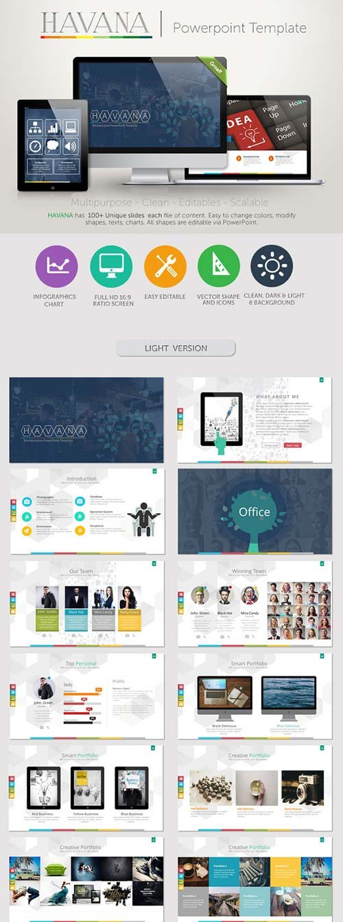 GraphicRiver Havana PowerPoint Presentation