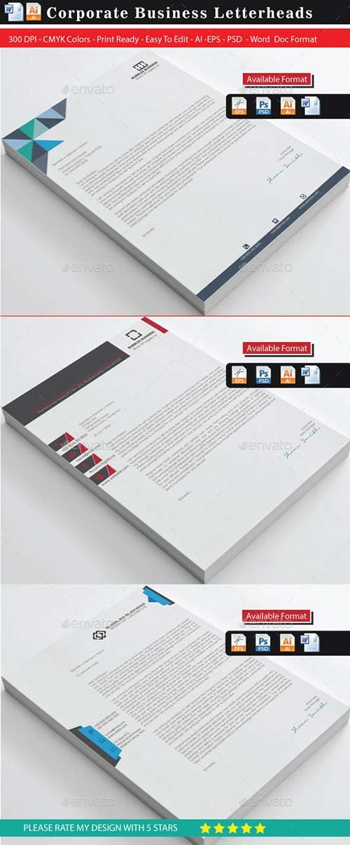 GraphicRiver Creative & Modern Letterhead Bundle