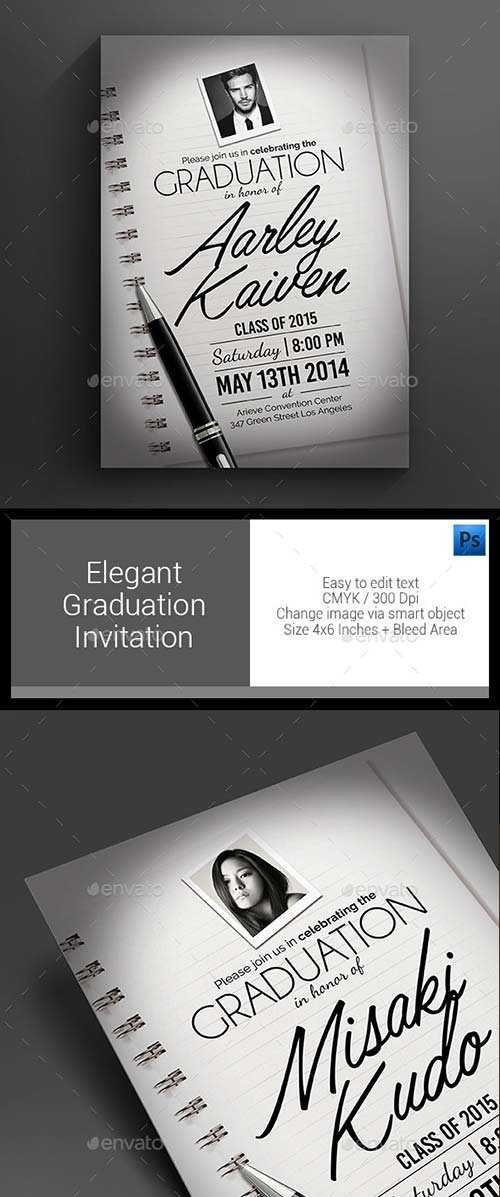 GraphicRiver Elegant Graduation Invitation