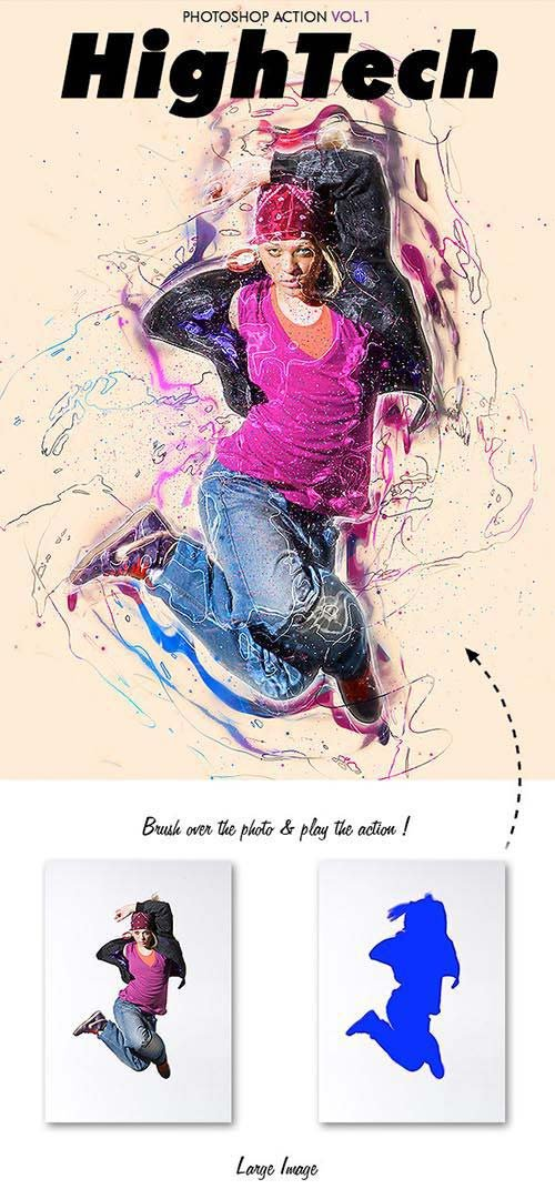 GraphicRiver HighTech Vol.1 - Photoshop Action