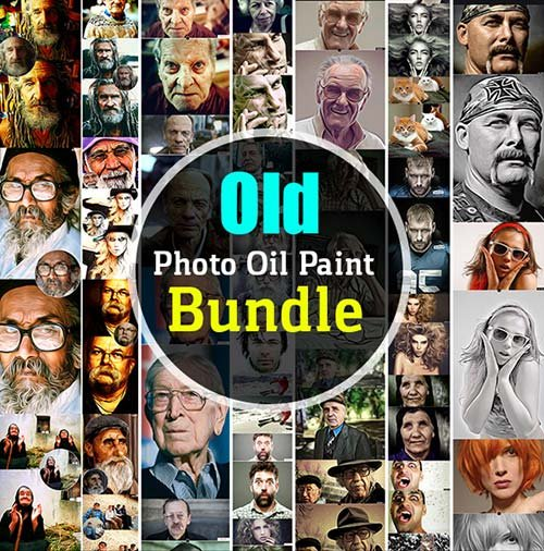 GraphicRiver Old Photo Oil Paint Bundle