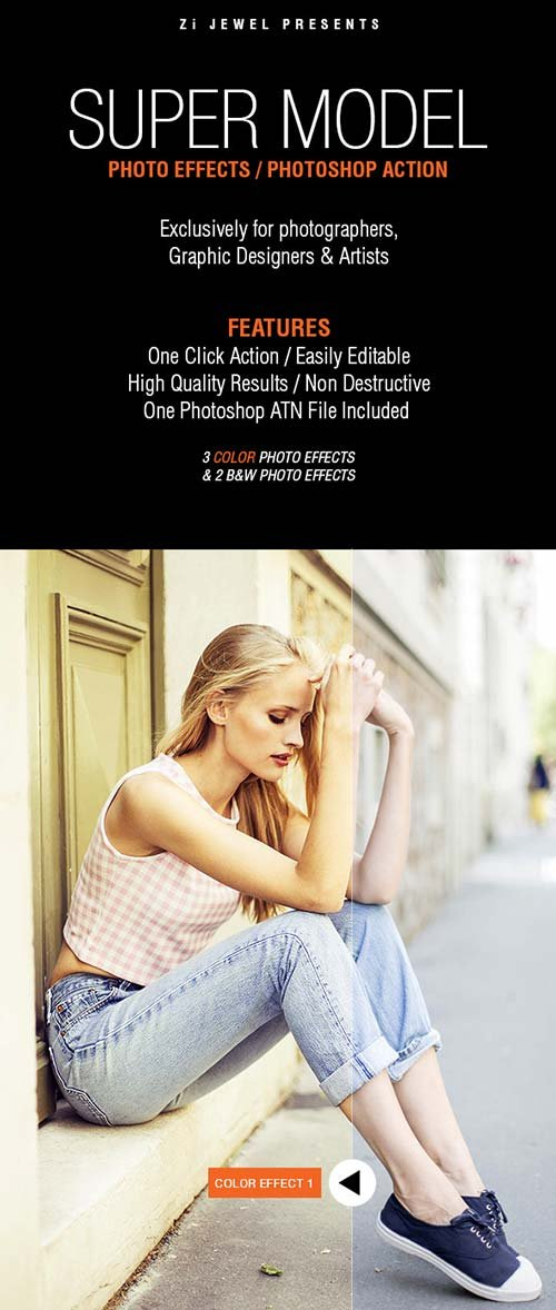 GraphicRiver Super Model (Photo Effects)