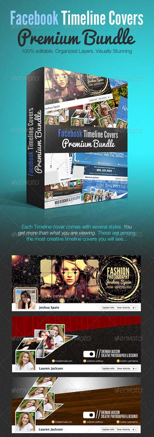 GraphicRiver Facebook Creative Timeline Covers Premium Bundle
