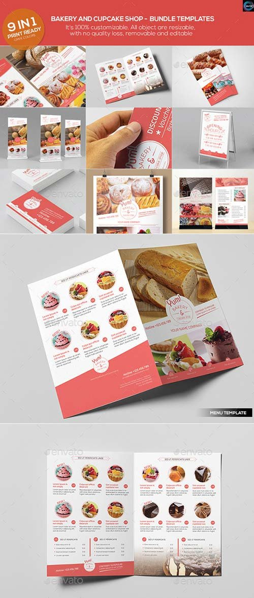 GraphicRiver Bakery & Cupcake Shop - Bundle Templates