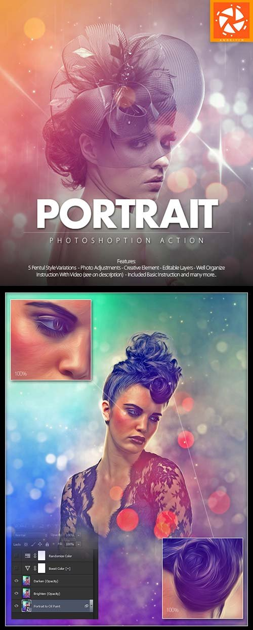 GraphicRiver Portrait Photoshop Action