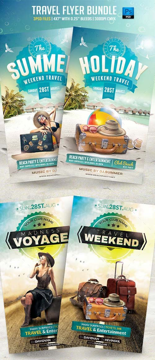 GraphicRiver Travel Flyer Bundle