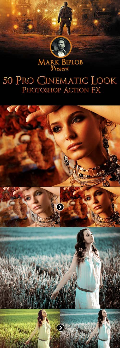 GraphicRiver 50 Pro Cinematic Photoshop Action FX