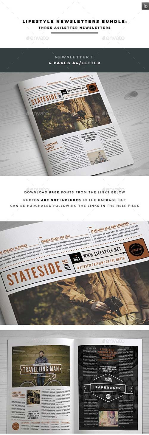GraphicRiver Lifestyle Newsletters Bundle