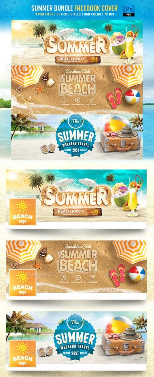 GraphicRiver Summer Bundle Facebook Cover