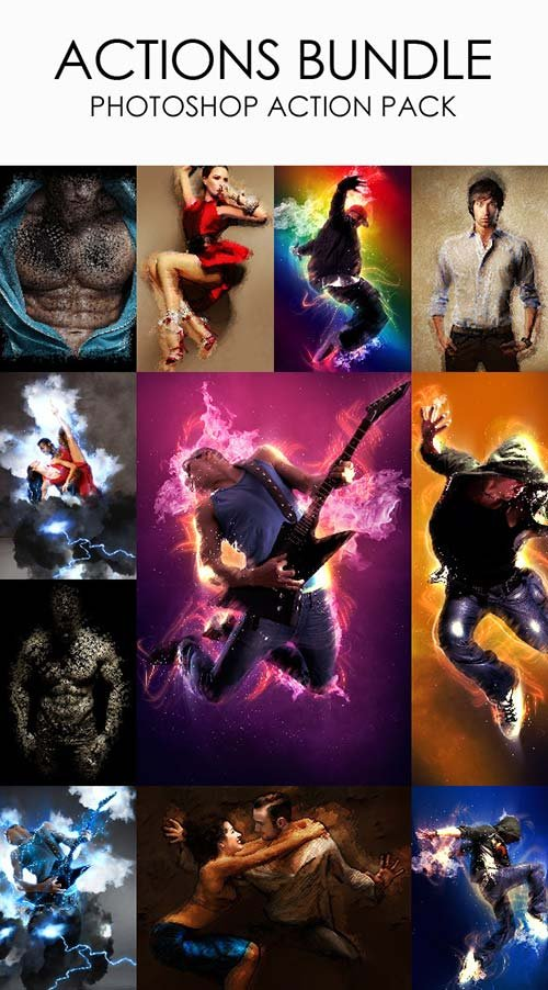 GraphicRiver Actions Bundle - Photoshop Action Pack